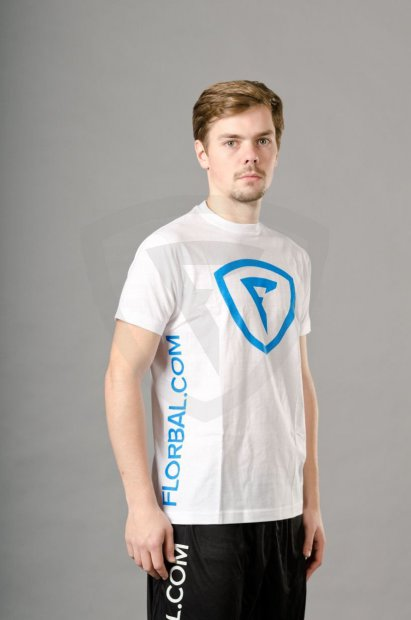 Florbal.com T-shirt New Style White 6923