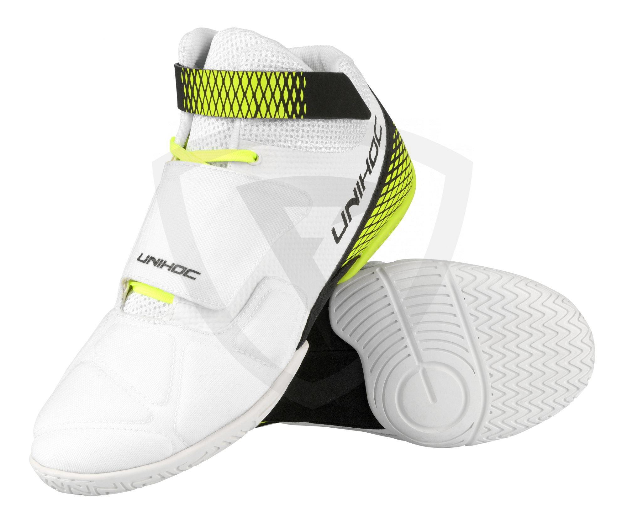Unihoc U4 Goalie White Neon Yellow brankářská obuv - Florbal.com 41e8c2330b